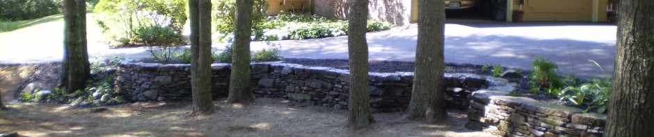 Fieldstone Retaining Wall, Cumberland Foreside, Maine