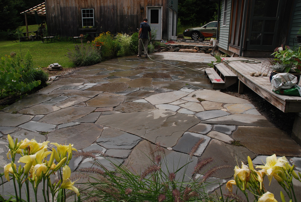 Iu0027ve Recently Finished Work On A Multi Level Patio In Freeport. For Visual  Diversity We Chose A Mix Of Large Irregular Bluestone And Smaller Tumbled  ...