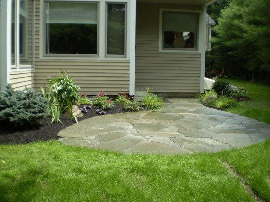 Landscaping Stones Portland Maine : And garden extends the living space of this portland condominium