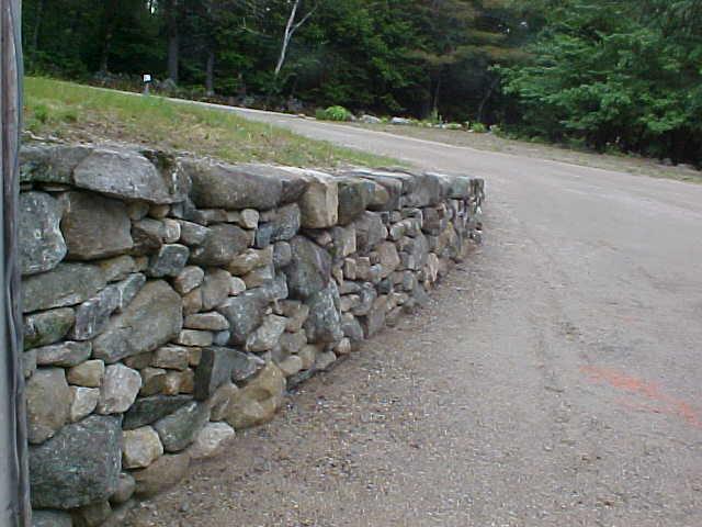 Fieldstone Retaining Wall Bridgton Maine Perennial Stone