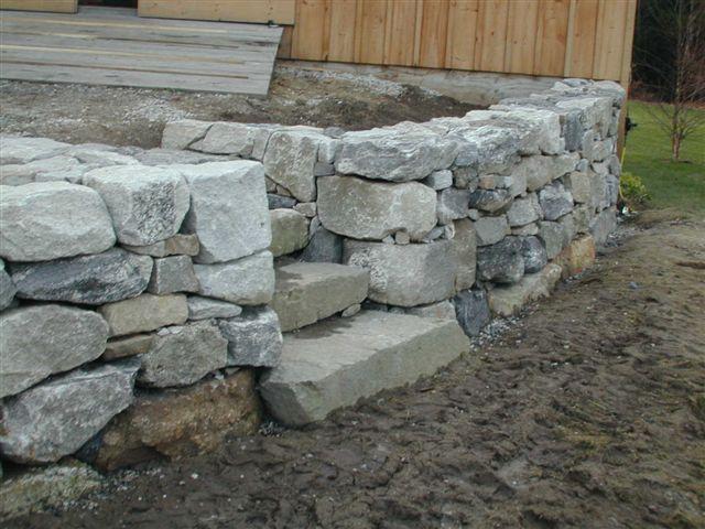 Granite Stone Walls : Maine stonework masonry hardscaping perennial stone