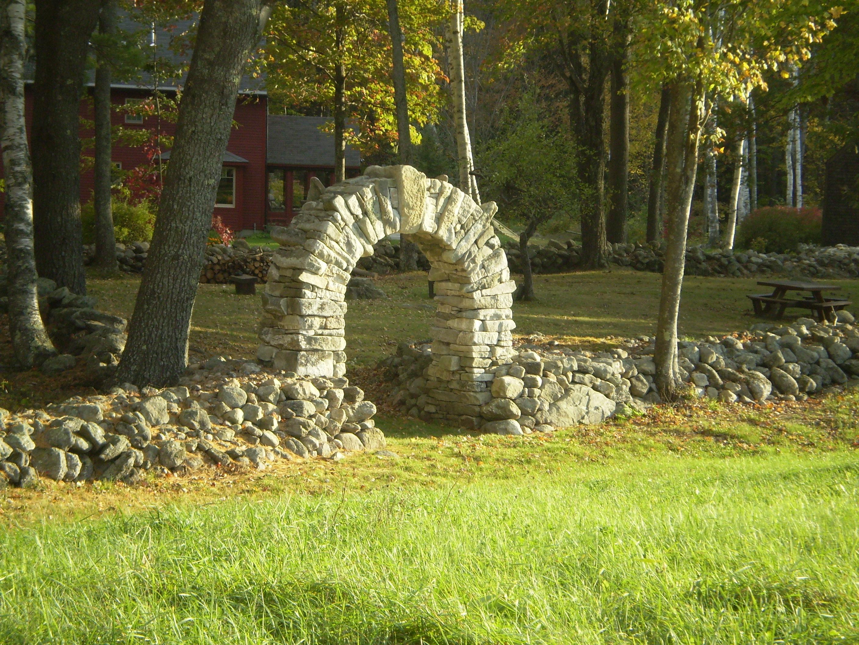 Dry Stone Archway Baldwin Maine Perennial Stone