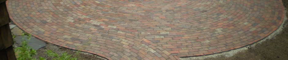 Reclaimed-Brick Patio, Cumberland Foreside, Maine