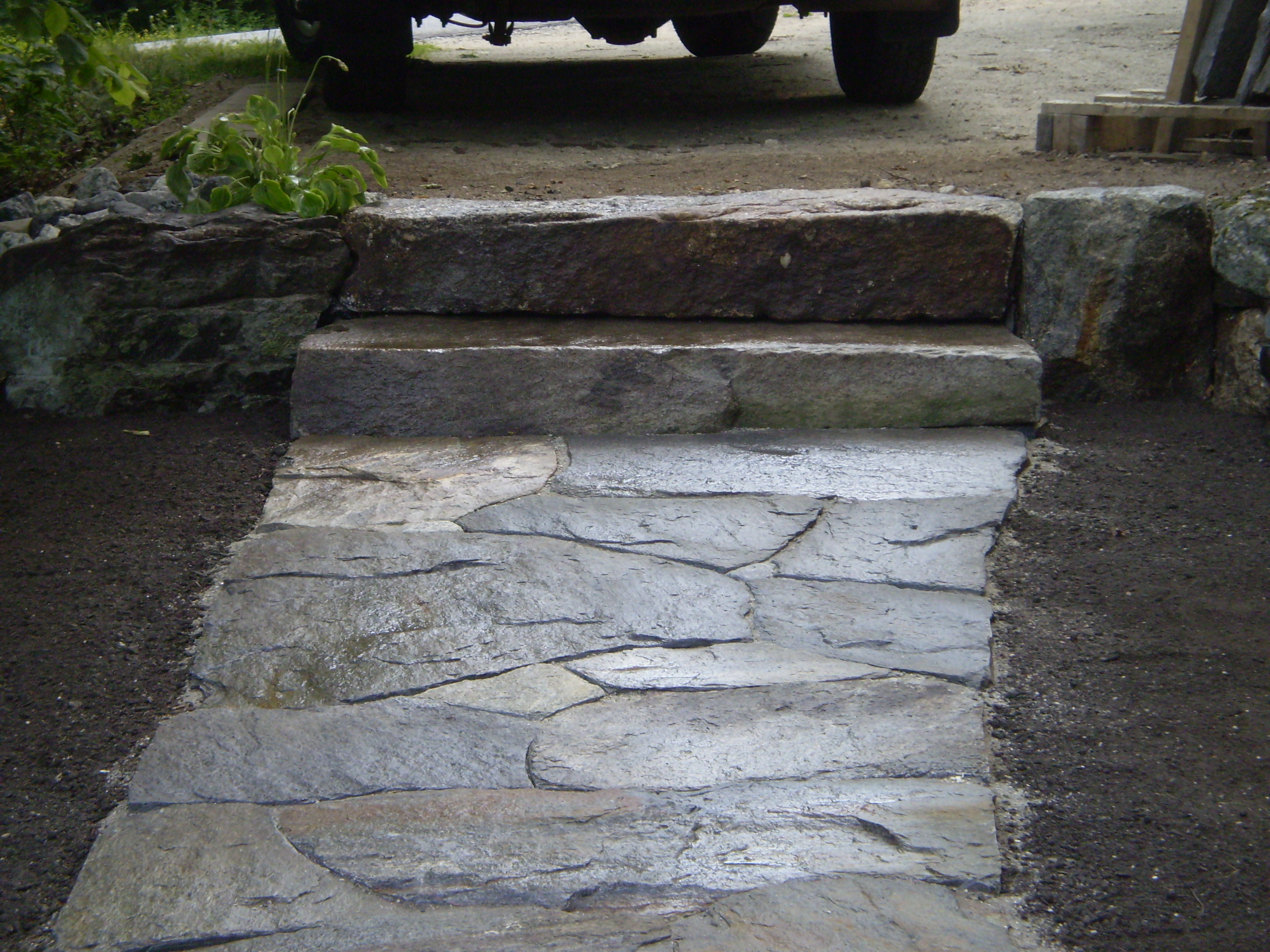 how to fix stone walkway