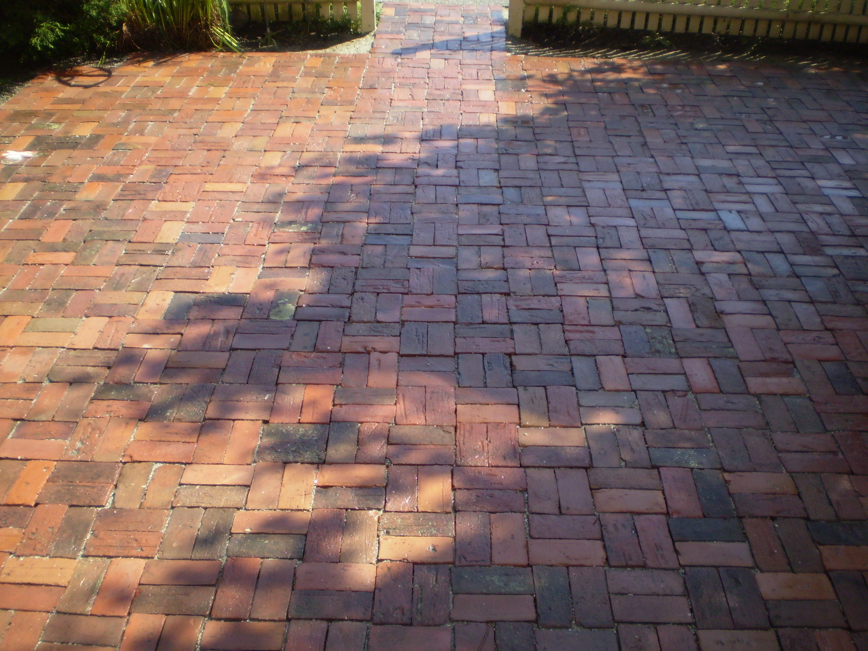 Maine stonework masonry hardscaping perennial stone reclaimed brick patio yarmouth maine - Reclaimed brick design ideas ...