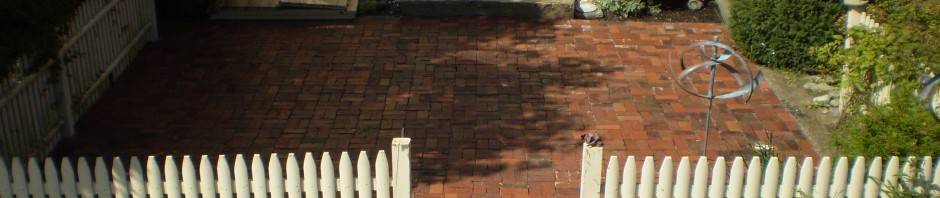 Reclaimed-Brick Patio, Yarmouth, Maine