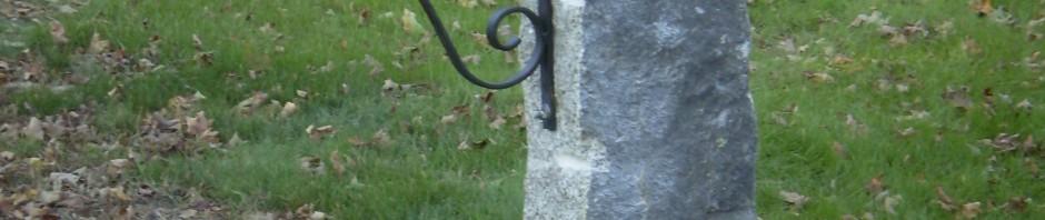 Granite Mailbox Post, Scarborough, Maine