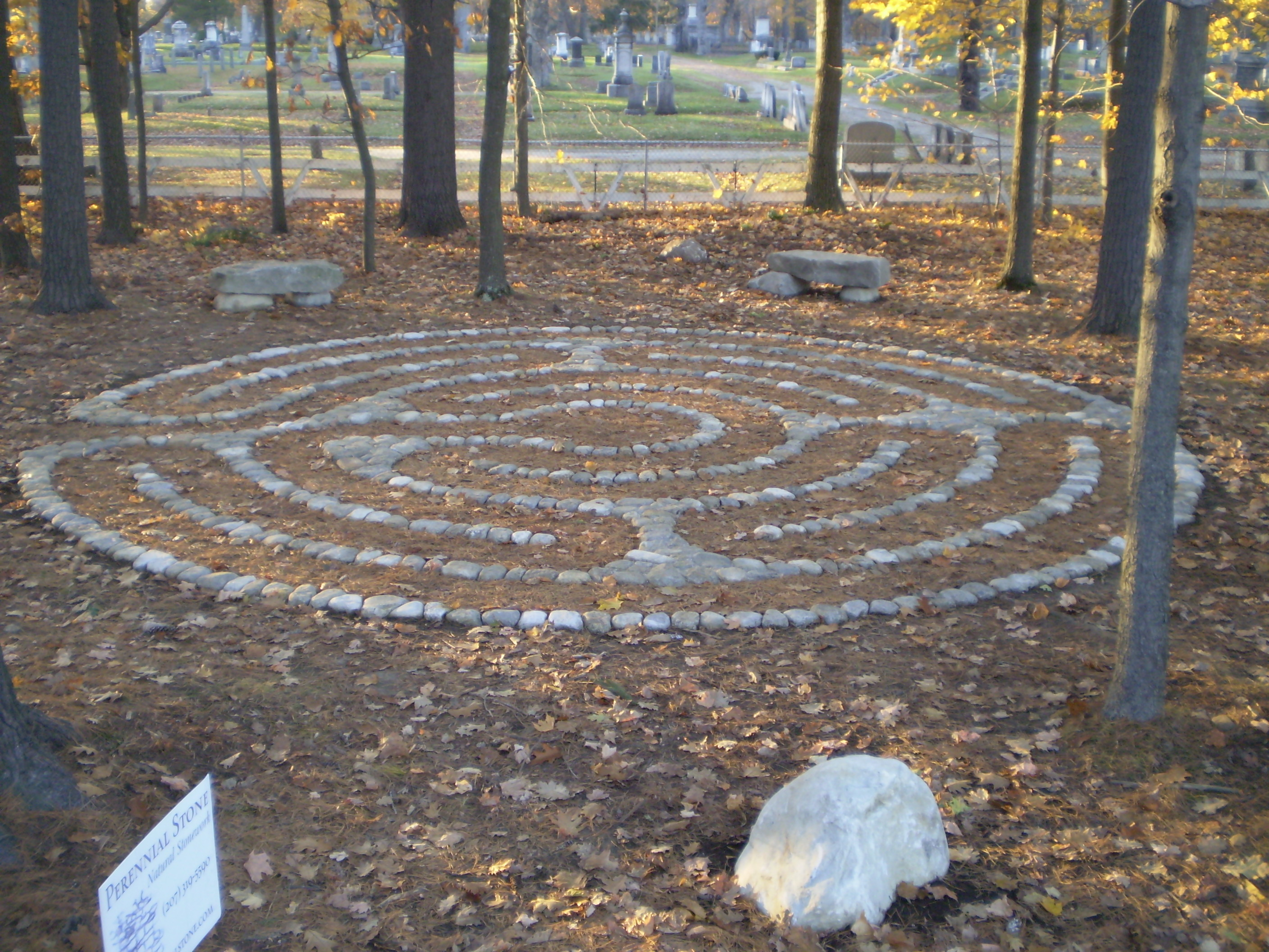 The Labyrinth At Une Portland Maine Perennial Stone