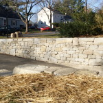 Granite Retaining Wall