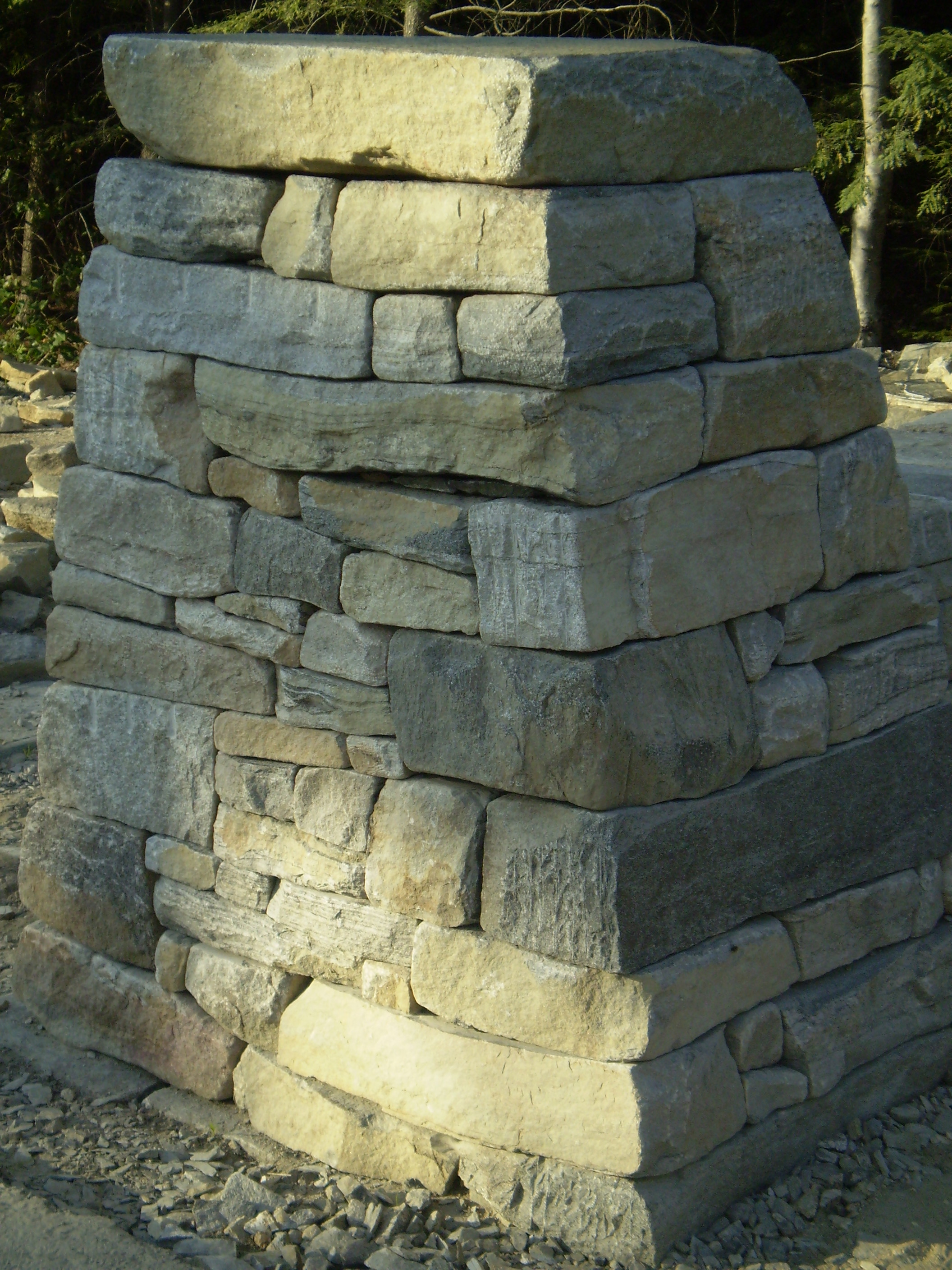 Drystone Entry Wall And Pillars Scarborough Maine