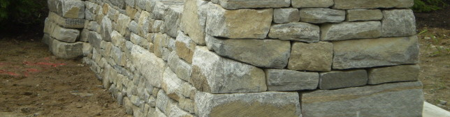 Drystone Entry Wall and Pillars, Scarborough, Maine