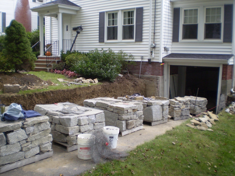 Granite Retaining Walls Portland Maine Perennial Stone