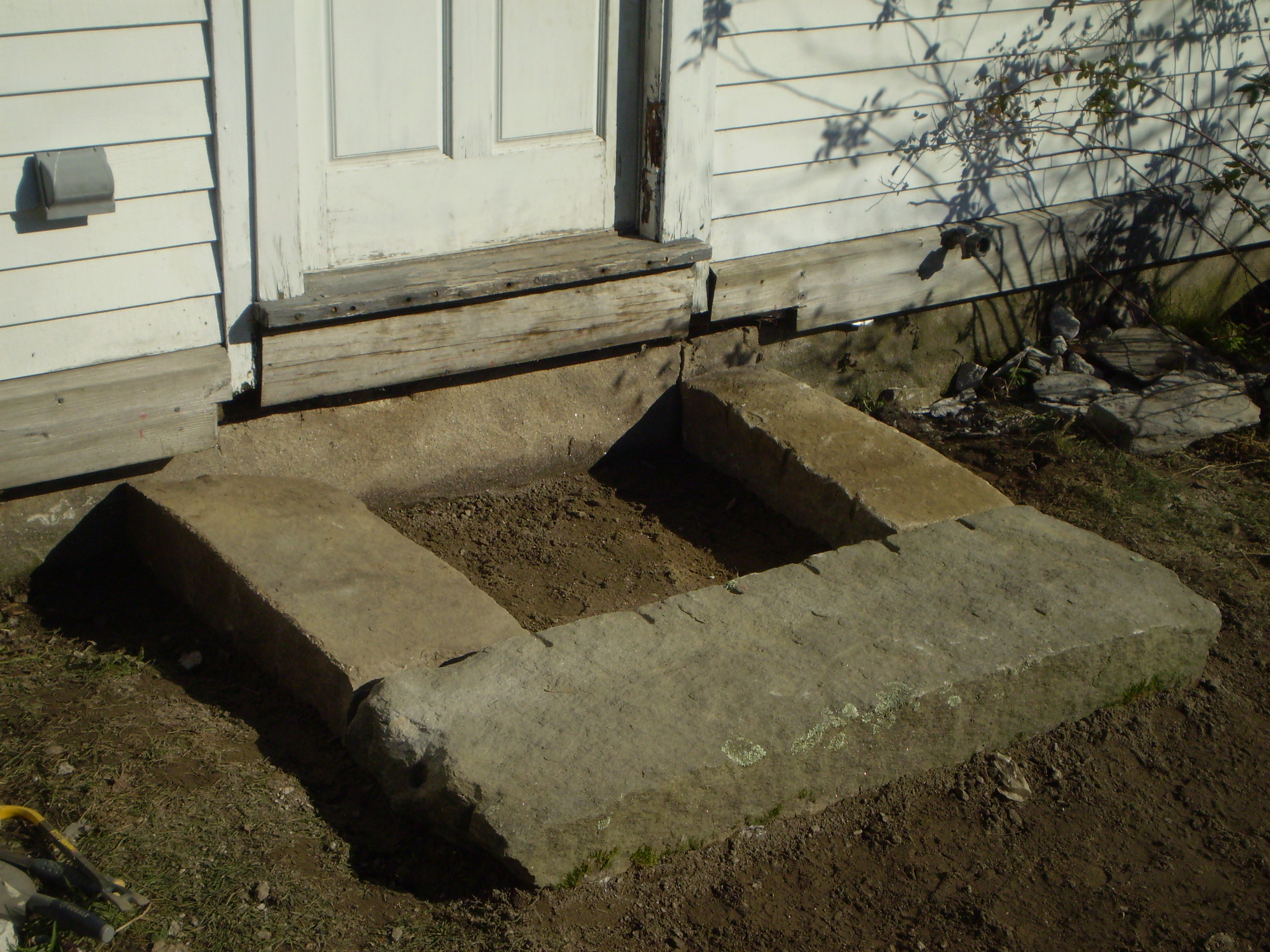 Hand Split Granite Steps North Yarmouth Maine