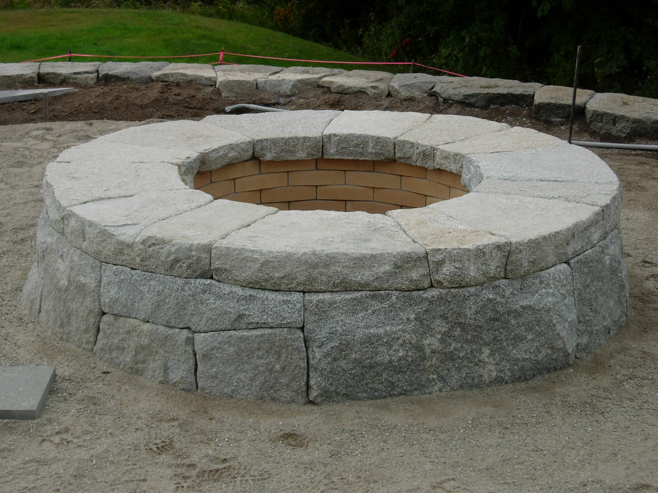 Raised Patio and Fire Pit, Freeport, Maine | Perennial Stone