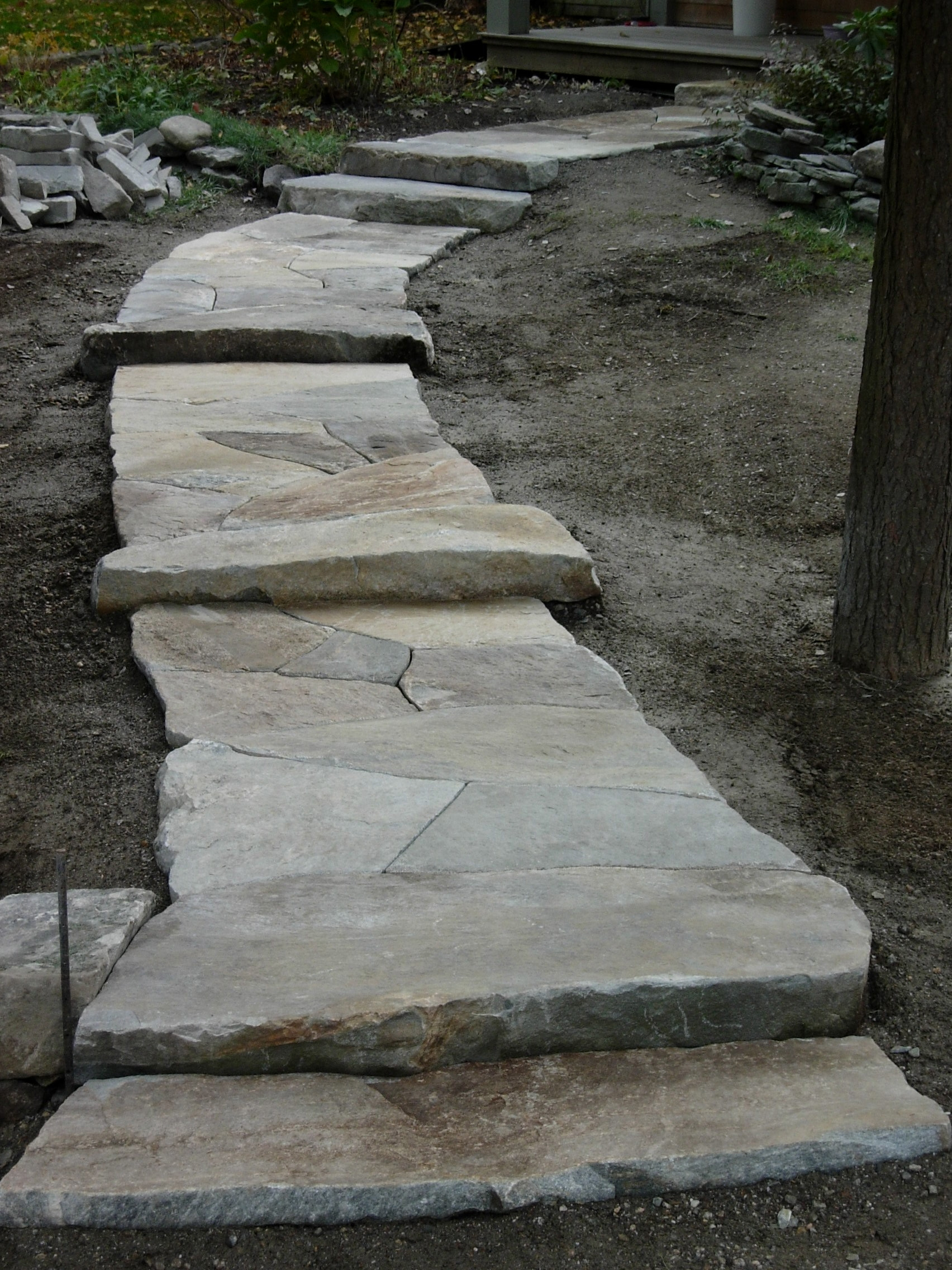Granite Flagstone Walkway North Yarmouth Maine