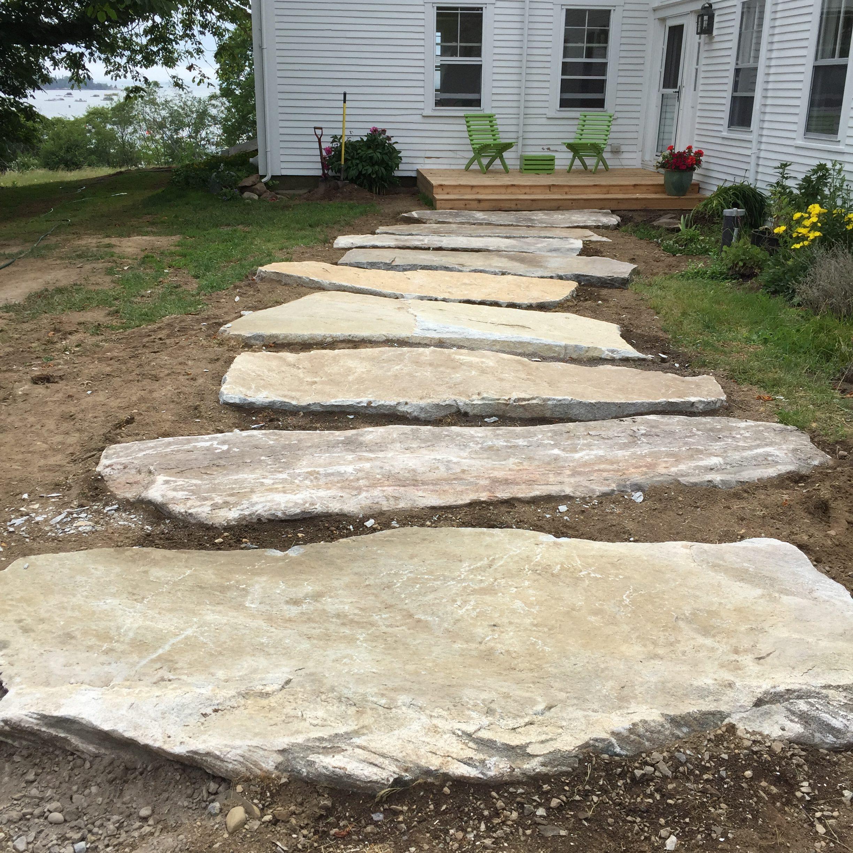 Maine stonework masonry hardscaping perennial stone Natural stone walkways