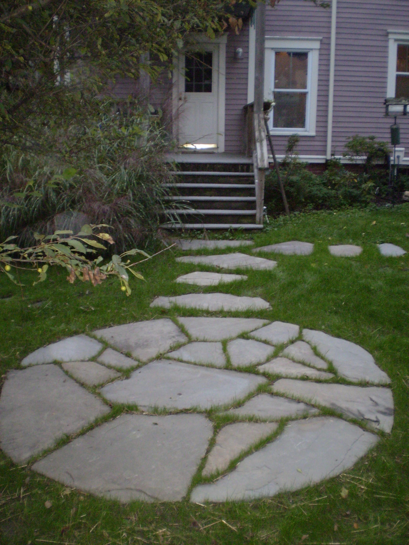 Tea-Garden Patio, Portland, Maine   Perennial Stone on Stepping Stone Patio Ideas id=89678