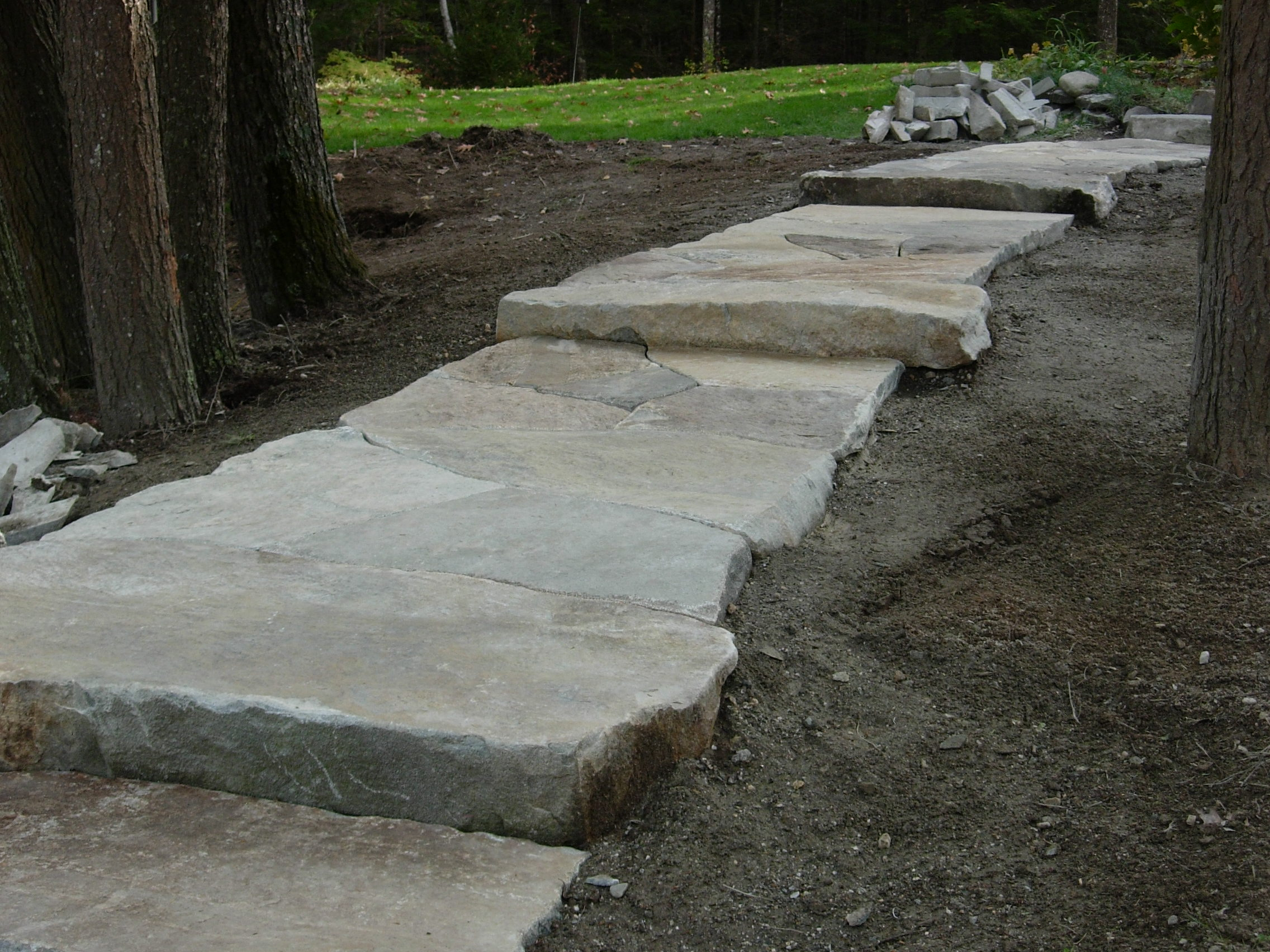Flag Stone Fire Pit